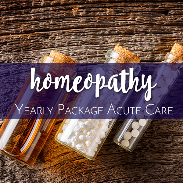 Homeopathy Product Graphic Yearly Package Acute Care